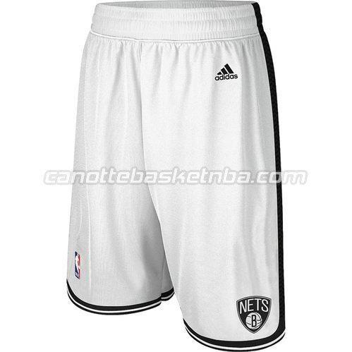 pantaloncini basket nba brooklyn nets bianca