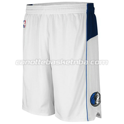 pantaloncini basket nba poco prezzo dallas mavericks bianca