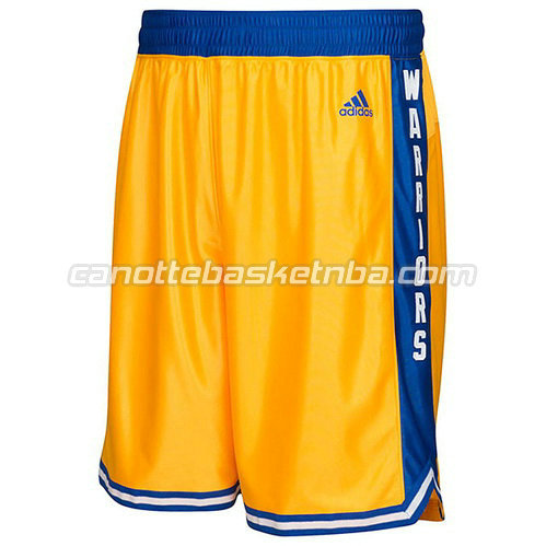 pantaloncini nba golden state warriors classico giallo