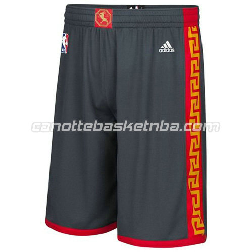 pantaloncini nba golden state warriors classico nero