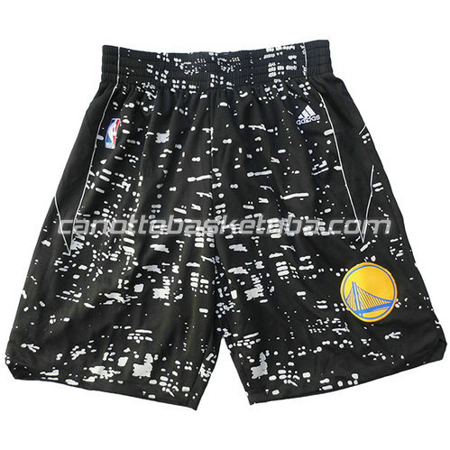 pantaloncini basket golden state warriors lights nero