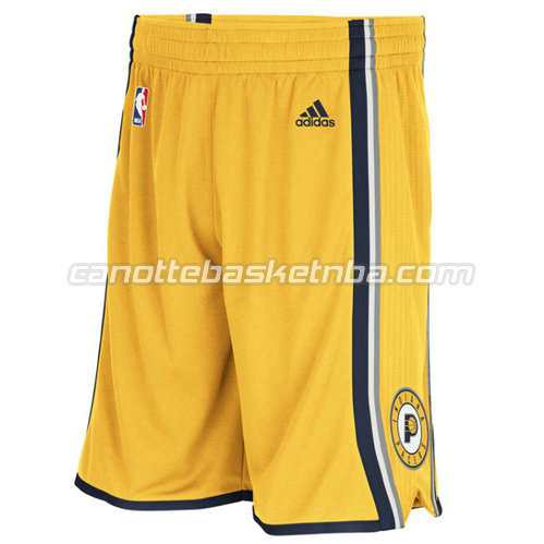 pantaloncini basket nba indiana pacers giallo