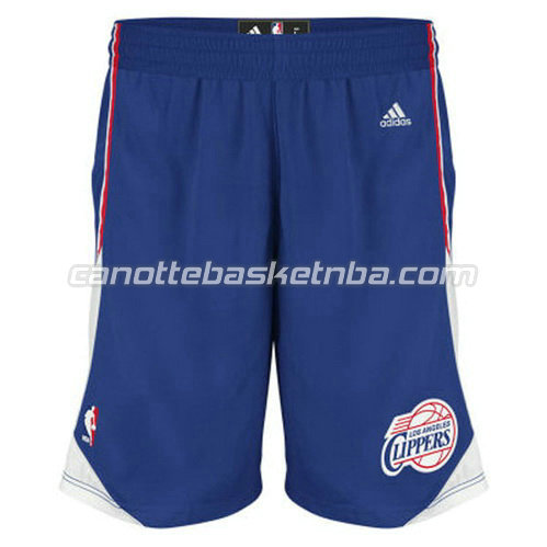 pantaloncini basket poco prezzo los angeles clippers blu