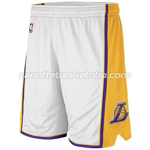 pantaloncini basket poco prezzo los angeles lakers bianca