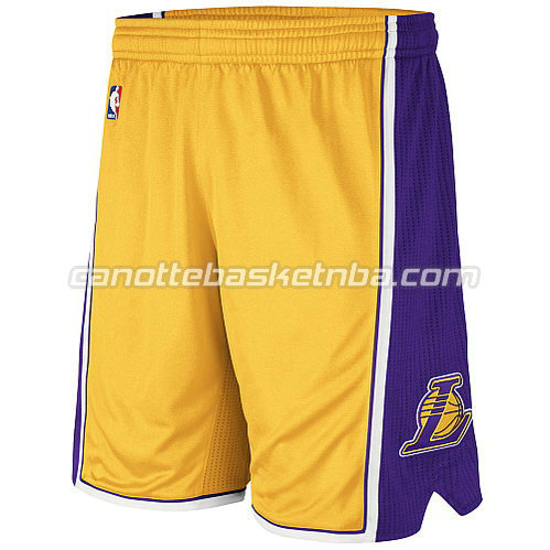 pantaloncini nba poco prezzo los angeles lakers giallo