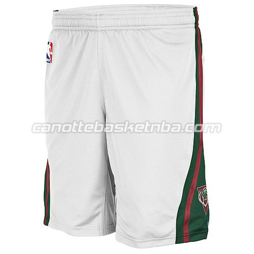 pantaloncini basket nba poco prezzo milwaukee bucks bianca